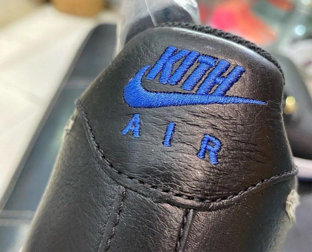 """キス x ナイキ エア フォース 1 ロー """"NYC""""-Kith-Nike-Air-Force-1-Low-NYC-Black-CZ7928-001-heel-logo"""