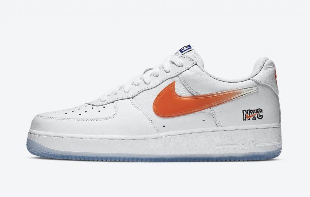 """キス x ナイキ エア フォース 1 ロー """"NYC""""-Kith-Nike-Air-Force-1-NYC-White-CZ7928-100-side-orange"""