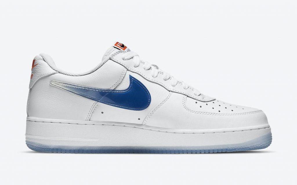 """キス x ナイキ エア フォース 1 ロー """"NYC""""-Kith-Nike-Air-Force-1-NYC-White-CZ7928-100-side-blue"""