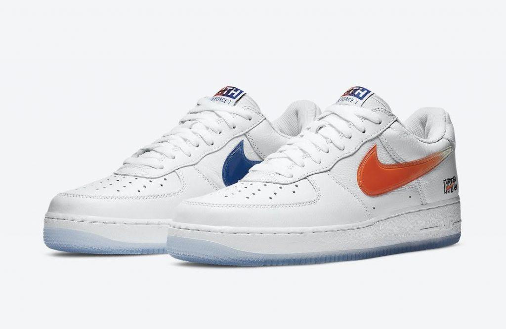"""キス x ナイキ エア フォース 1 ロー """"NYC""""-Kith-Nike-Air-Force-1-NYC-White-CZ7928-100-pair"""