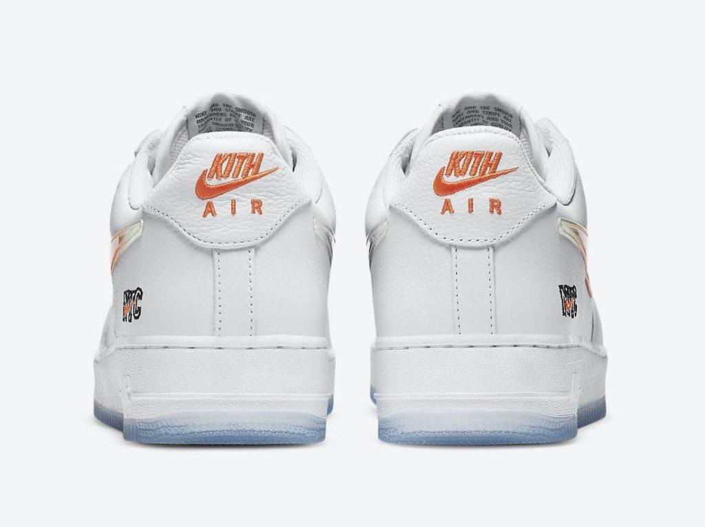 """キス x ナイキ エア フォース 1 ロー """"NYC""""-Kith-Nike-Air-Force-1-NYC-White-CZ7928-100-heel"""