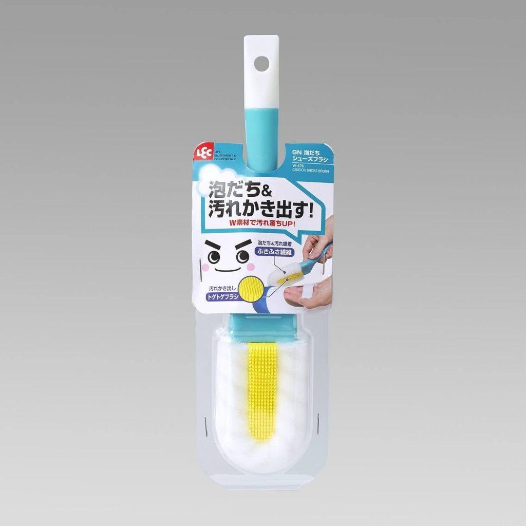 レック 激落ちくん W素材の 泡立ち シューズブラシ-five-sneaker-washing-brush-LEC-W-476-Gekiochi-kun-Foam-Shoe-Brush-with-W-Material