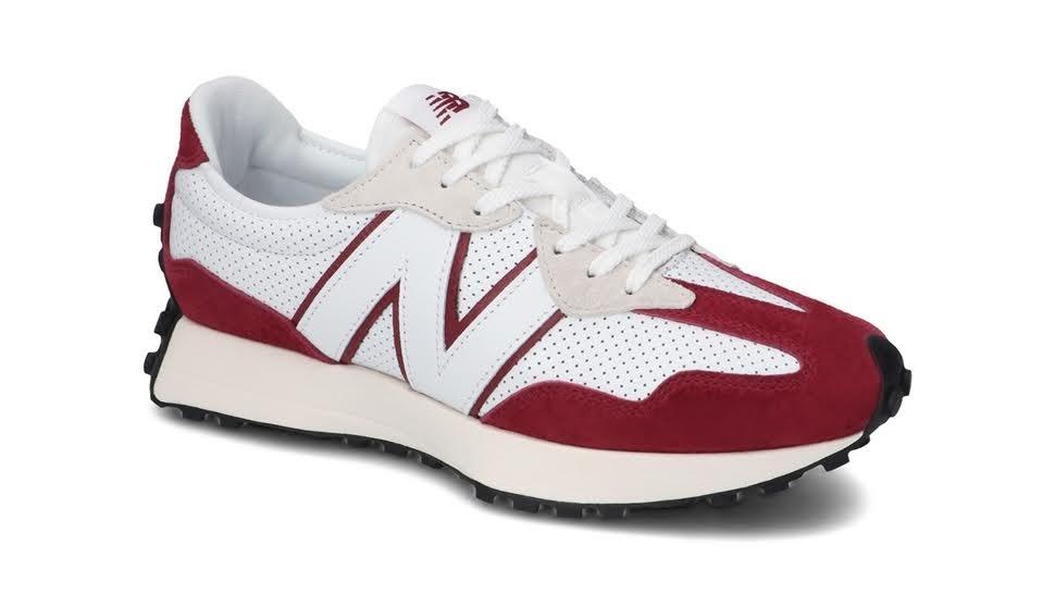 """ニューバランス 327 """"プライマリーパック""""-new-balance-327-white-red-MS327PE-side-angle"""