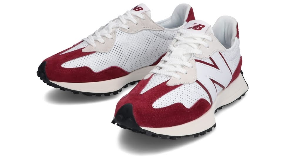 """ニューバランス 327 """"プライマリーパック""""-new-balance-327-white-red-MS327PE-pair"""