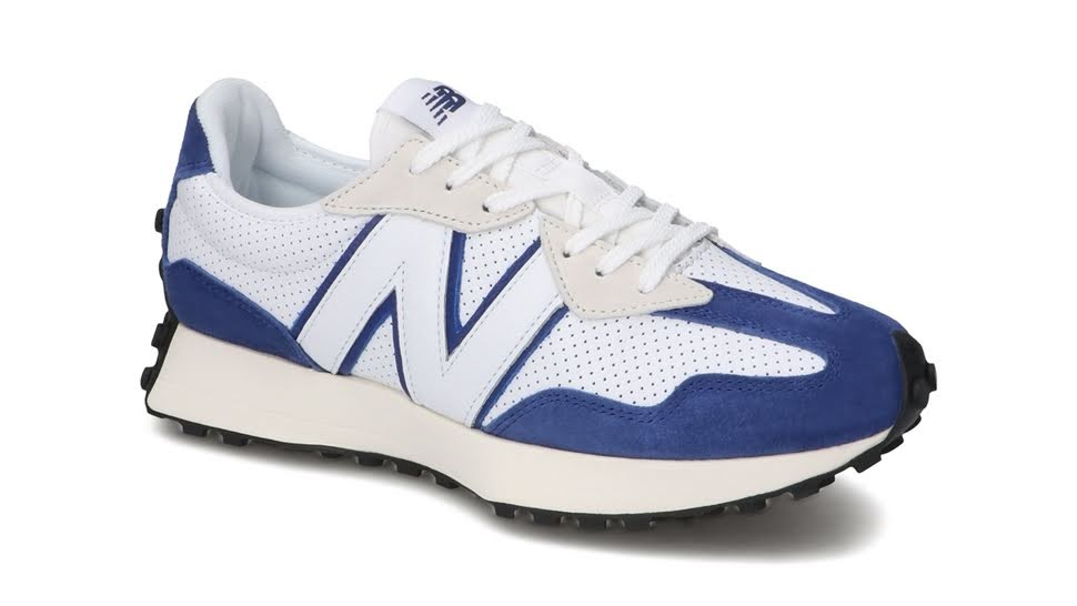 """ニューバランス 327 """"プライマリーパック""""-new-balance-327-white-blue-MS327PF-side-angle"""