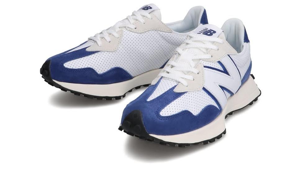 """ニューバランス 327 """"プライマリーパック""""-new-balance-327-white-blue-MS327PF-pair"""