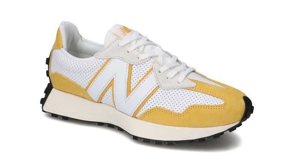 """ニューバランス 327 """"プライマリーパック""""-new-balance-327-white-yellow-MS327PG-side-angle"""