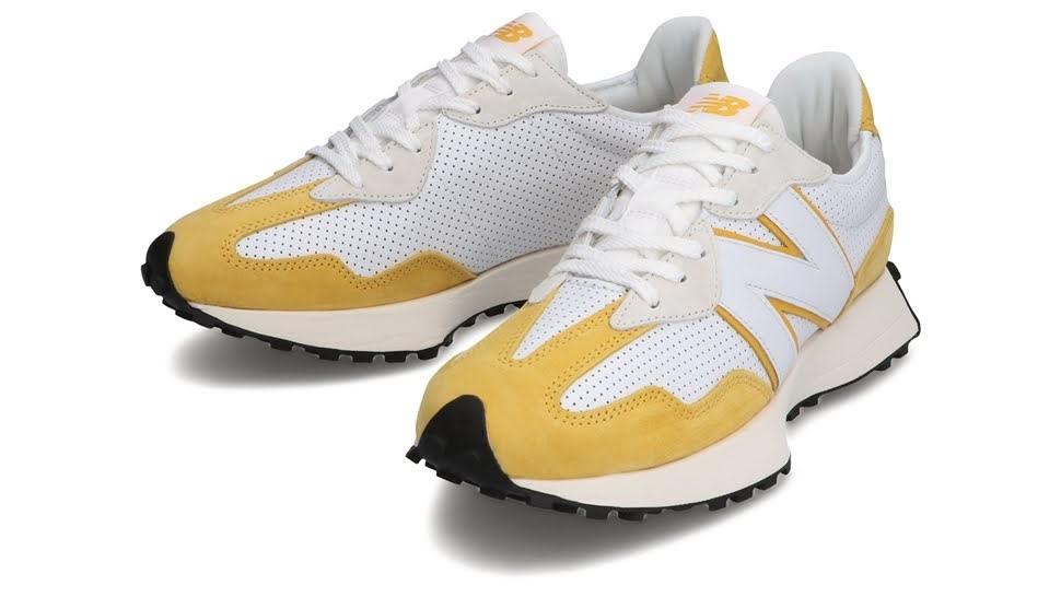 """ニューバランス 327 """"プライマリーパック""""-new-balance-327-white-yellow-MS327PG-pair"""