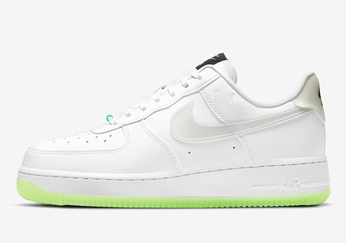 ナイキ エア フォース 1 ハブ ア ナイキ デー グロー イン ザ ダーク ホワイト Nike-Air-Force-1-Low-Have-A-Nike-Day-CT3228-100-CT3228-701 side