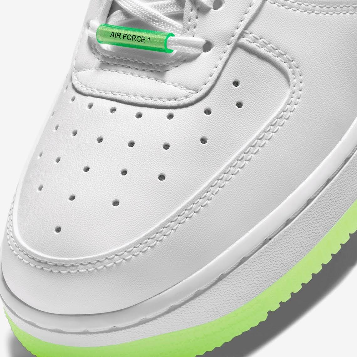 ナイキ エア フォース 1 ハブ ア ナイキ デー グロー イン ザ ダーク ホワイト Nike-Air-Force-1-Low-Have-A-Nike-Day-CT3228-100-CT3228-701 toe