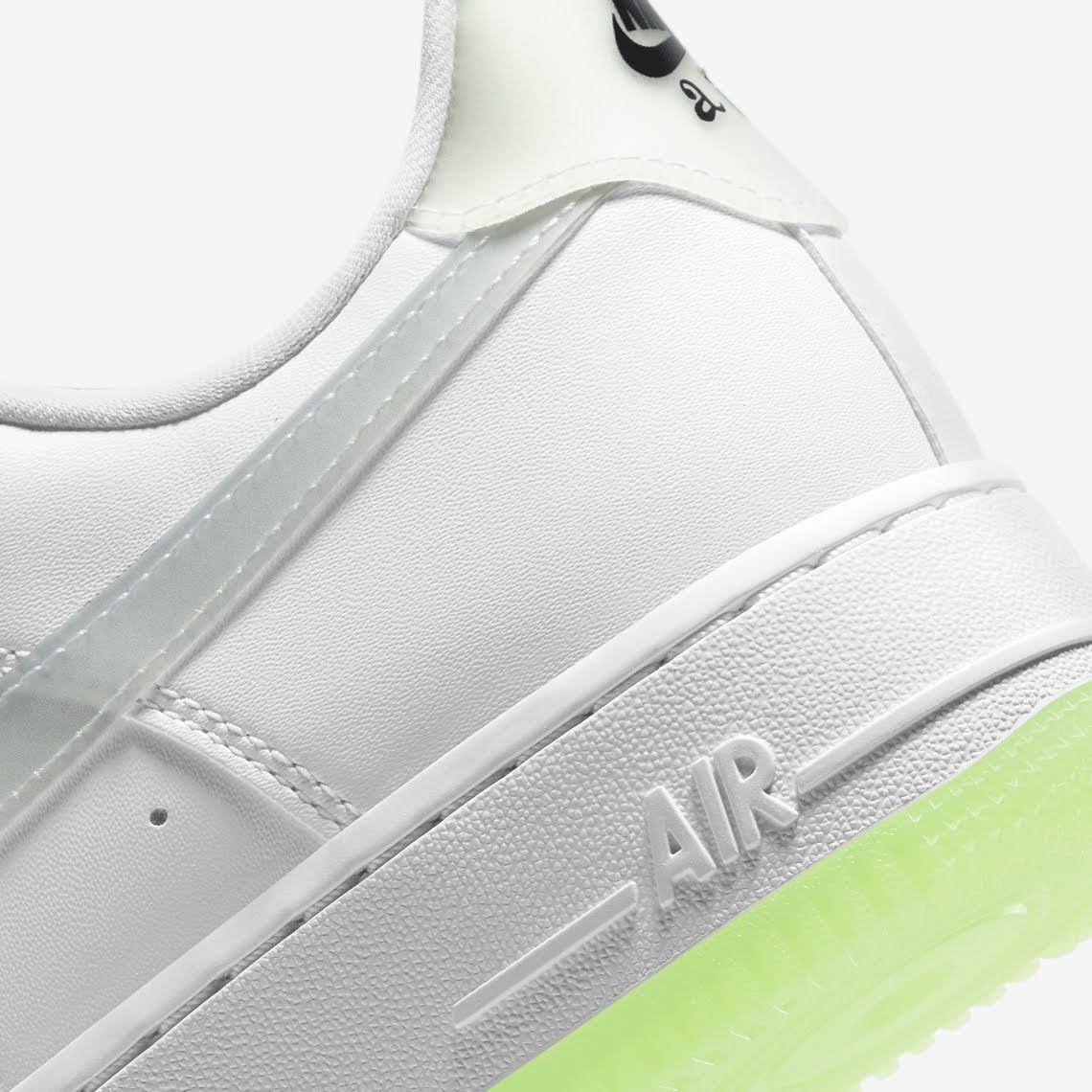 ナイキ エア フォース 1 ハブ ア ナイキ デー グロー イン ザ ダーク ホワイト Nike-Air-Force-1-Low-Have-A-Nike-Day-CT3228-100-CT3228-701 heel