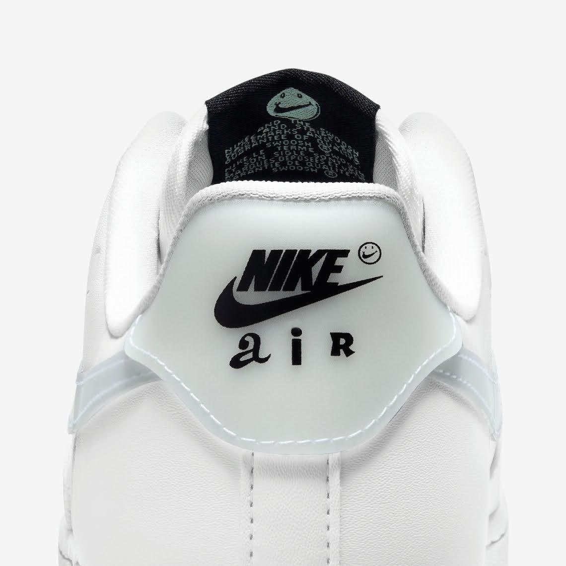 ナイキ エア フォース 1 ハブ ア ナイキ デー グロー イン ザ ダーク ホワイト Nike-Air-Force-1-Low-Have-A-Nike-Day-CT3228-100-CT3228-701 heel back