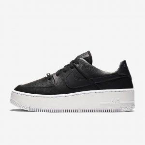 black-ladies-sneakers-winter-style-Nike-Air-Force-1-Sage-LOW-NIKE エアフォース1