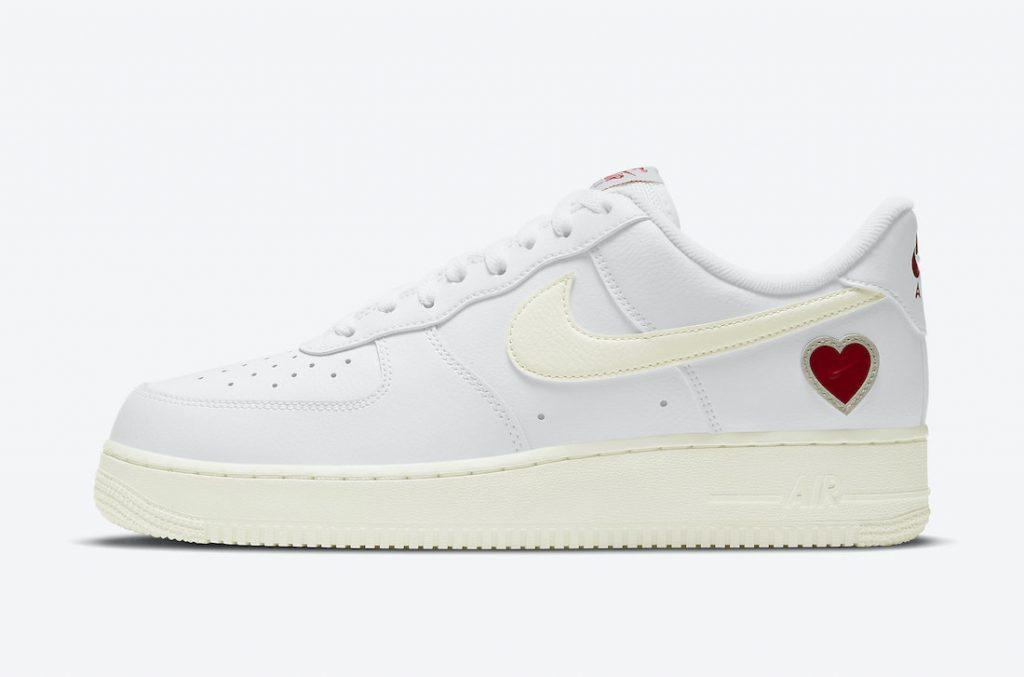 """2021年2月6日【Nike Air Force 1 """"バレンタインデー""""】エアフォース1 """"Valentine's Day"""" メイン画像"""