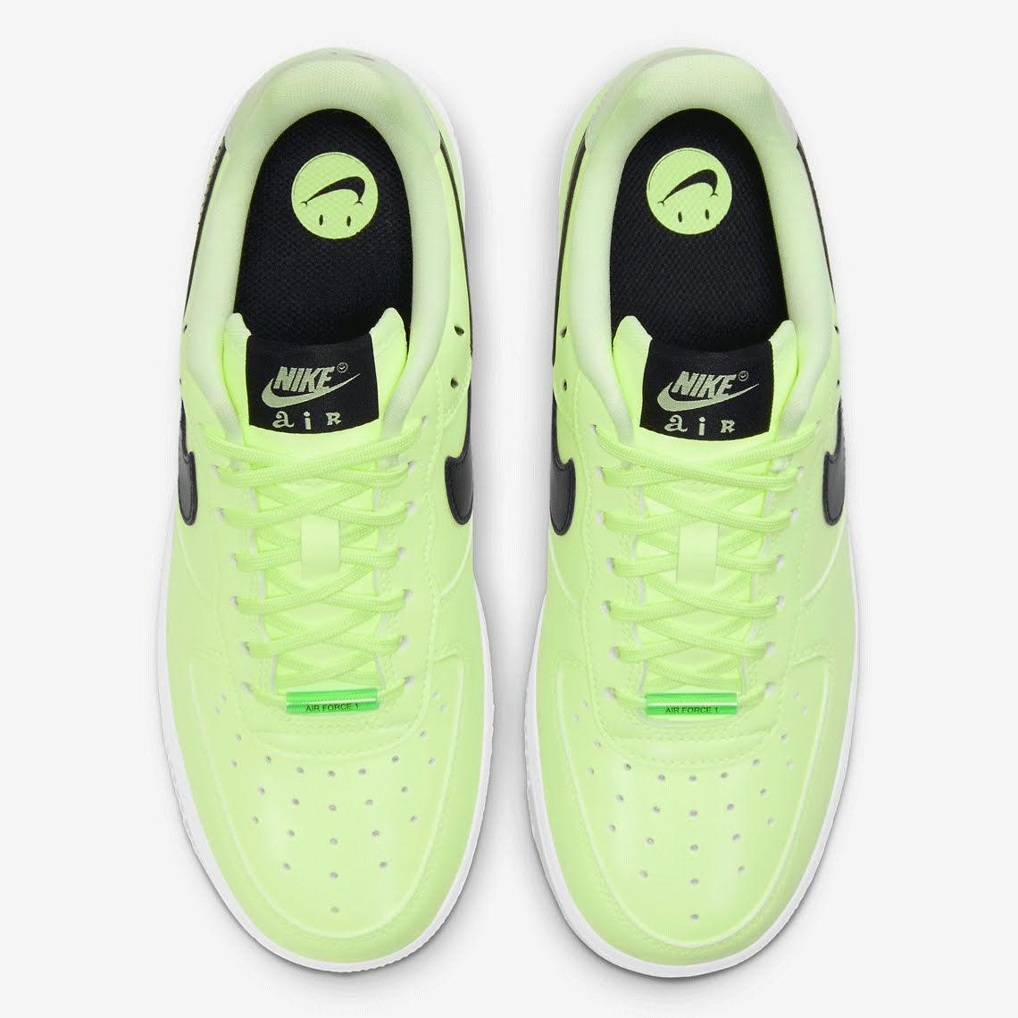 ナイキ エア フォース 1 ハブ ア ナイキ デー グロー イン ザ ダーク グリーン Nike-Air-Force-1-glow-in-the-dark-have-a-nike-day-CT3228-701 top