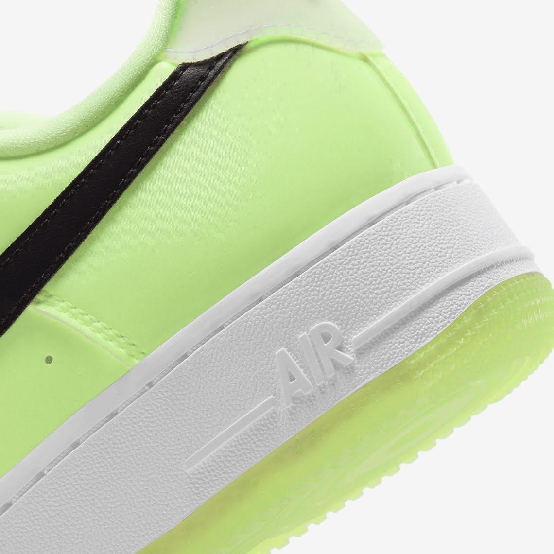 ナイキ エア フォース 1 ハブ ア ナイキ デー グロー イン ザ ダーク グリーン Nike-Air-Force-1-glow-in-the-dark-have-a-nike-day-CT3228-701 heel