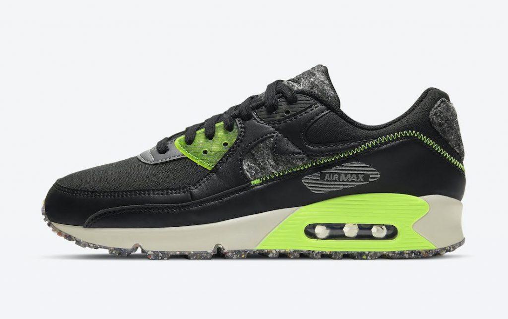 """ナイキ エア マックス 90 M2Z2 """"エレクトリックグリーン"""" Nike-Air-Max-90-M2Z2-Electric-Green-DD0383-001-side"""