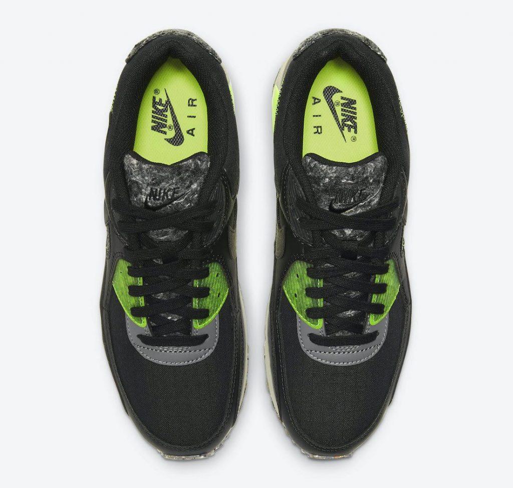 """ナイキ エア マックス 90 M2Z2 """"エレクトリックグリーン"""" Nike-Air-Max-90-M2Z2-Electric-Green-DD0383-001-top"""