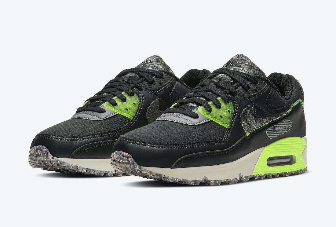 """ナイキ エア マックス 90 M2Z2 """"エレクトリックグリーン"""" Nike-Air-Max-90-M2Z2-Electric-Green-DD0383-001-pair"""