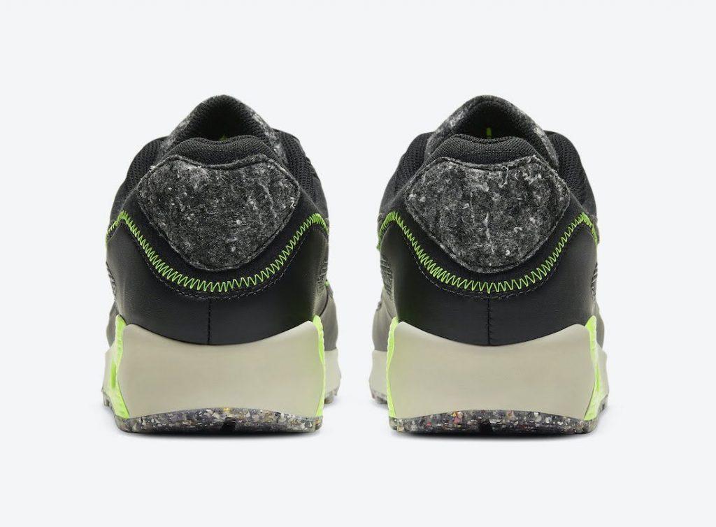 """ナイキ エア マックス 90 M2Z2 """"エレクトリックグリーン"""" Nike-Air-Max-90-M2Z2-Electric-Green-DD0383-001-heel"""
