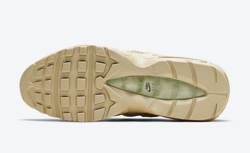 """ナイキ エア マックス 95 """"グレイン""""-Nike-Air-Max-95-PRM-Grain-Black-Beach-Coconut-Milk-DH4102-200-sole"""