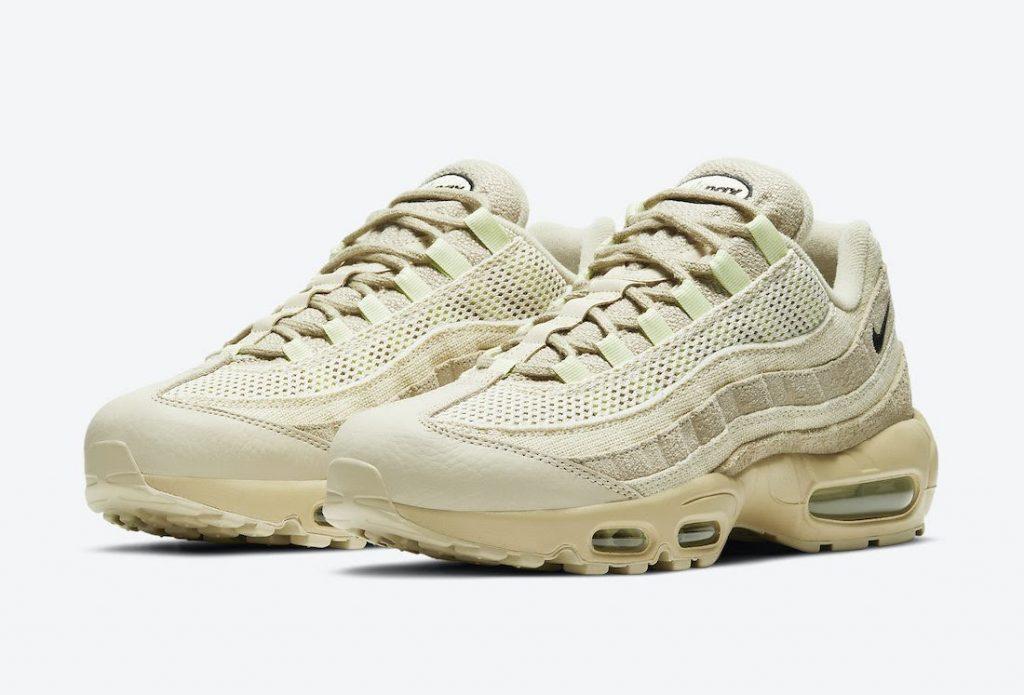 """ナイキ エア マックス 95 """"グレイン""""-Nike-Air-Max-95-PRM-Grain-Black-Beach-Coconut-Milk-DH4102-200-pair"""