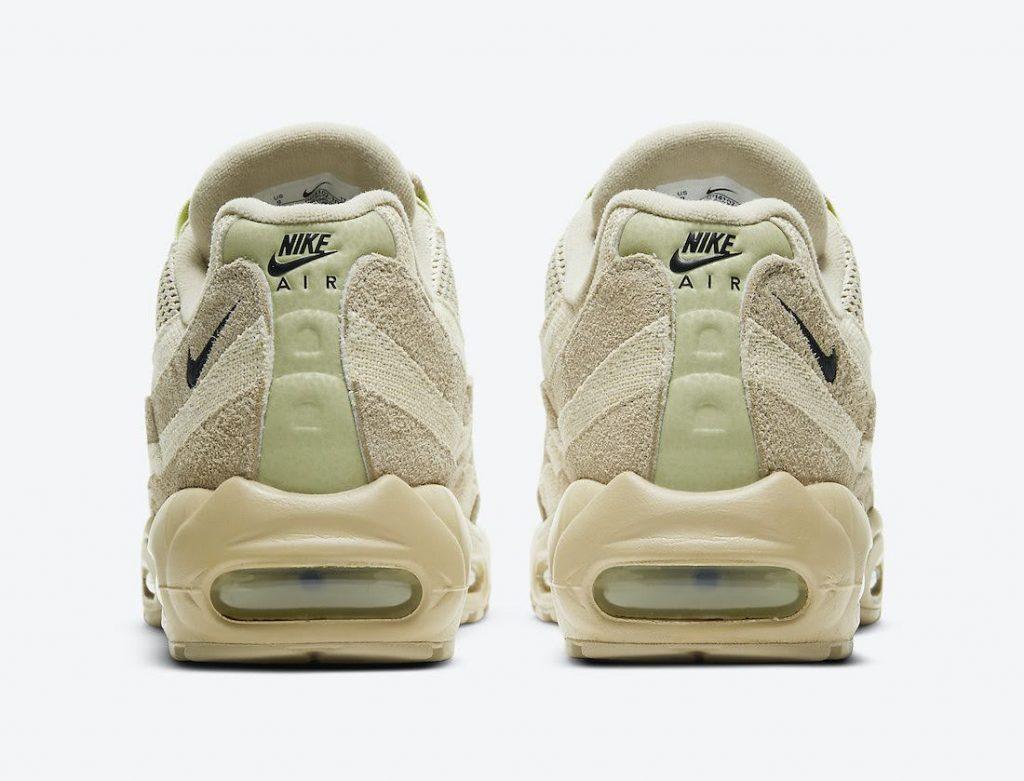 """ナイキ エア マックス 95 """"グレイン""""-Nike-Air-Max-95-PRM-Grain-Black-Beach-Coconut-Milk-DH4102-200-heel"""