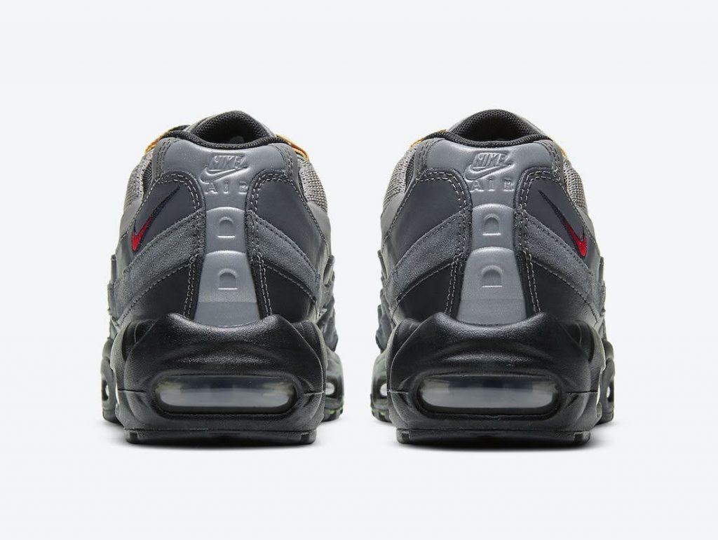 """ナイキ エア マックス 95 SE """"ライトチャコール""""-Nike-Air-Max-95-SE-Light-Charcoal-DD1502-001-heel"""