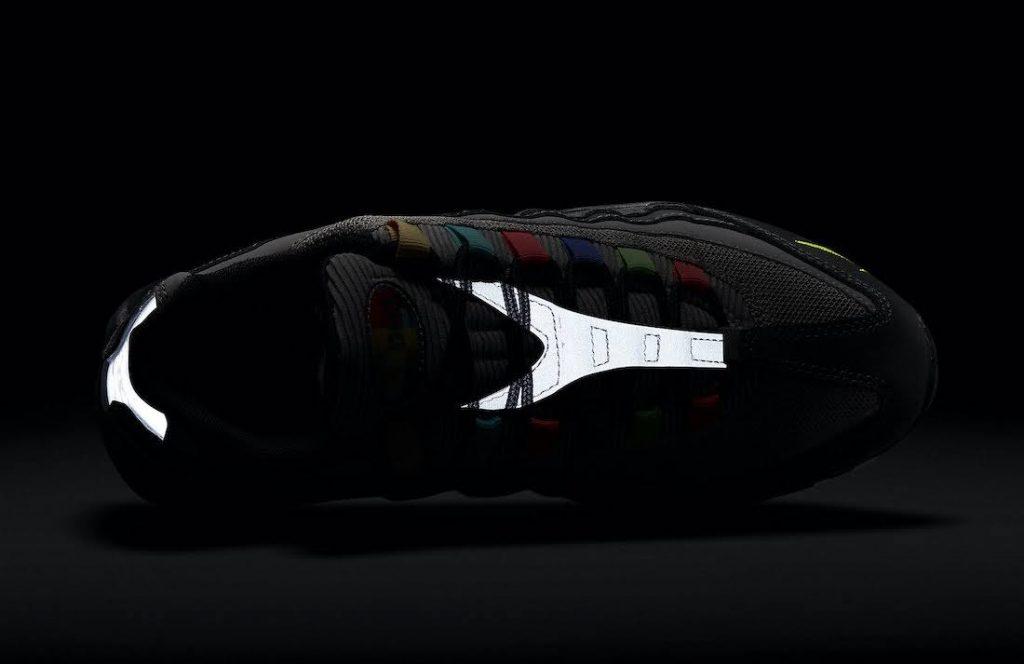 """ナイキ エア マックス 95 SE """"ライトチャコール""""-Nike-Air-Max-95-SE-Light-Charcoal-DD1502-001-tongue-glow-in-dark"""