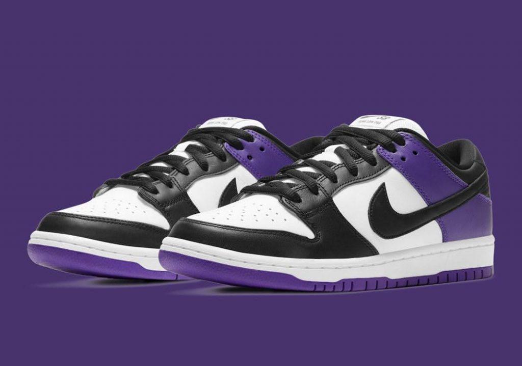 """ナイキ SB ダンク ロー """"コートパープル"""" Nike-SB-Dunk-Low-Court-Purple-BQ6817-500-pair"""