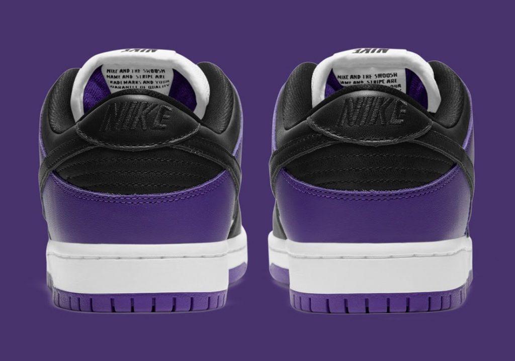 """ナイキ SB ダンク ロー """"コートパープル"""" Nike-SB-Dunk-Low-Court-Purple-BQ6817-500-heel"""