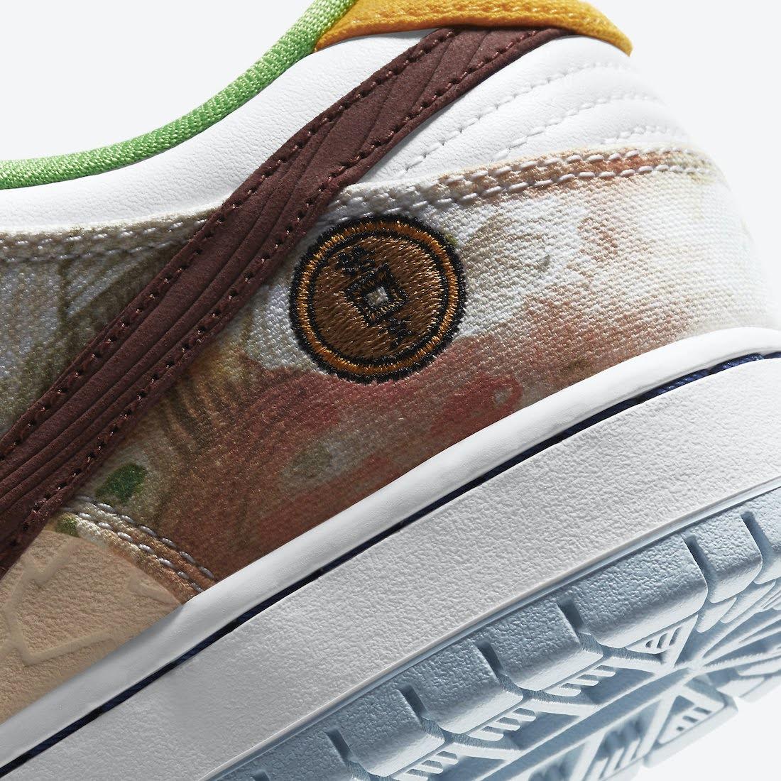 ナイキ SB ダンク ロー ストリート ホーカー チャイニーズ ニューイヤー コラボ Nike-SB-Dunk-Low-Street-Hawker-CV1628-800 heel