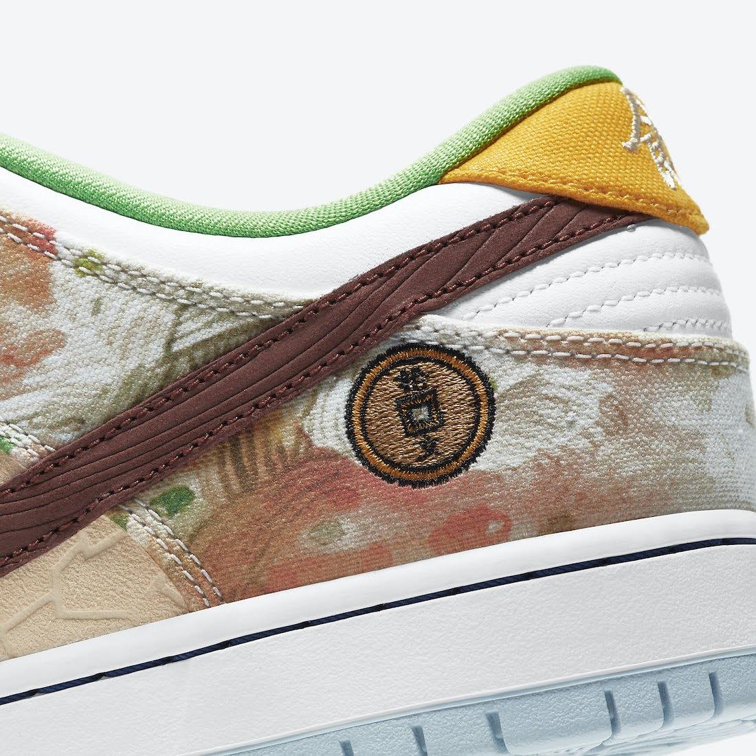 ナイキ SB ダンク ロー ストリート ホーカー チャイニーズ ニューイヤー コラボ Nike-SB-Dunk-Low-Street-Hawker-CV1628-800 heel side