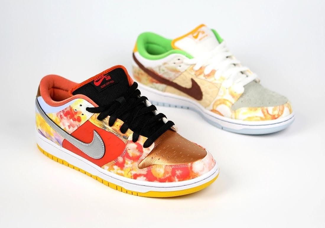 """ジェイソン デング x ナイキ SB ダンク ロー """"ストリート ホーカー"""" Jason-Deng-Nike-SB-Dunk-Low-Street-Hawker-CV1628-800-5-pair"""