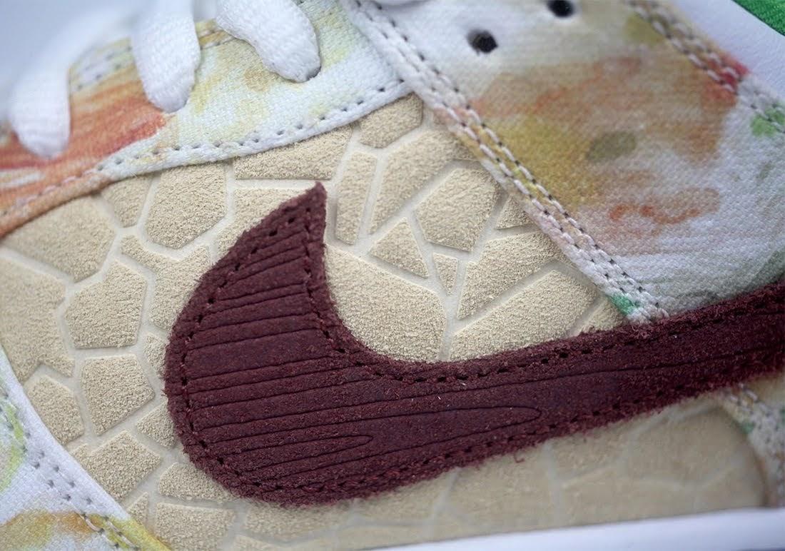 """ジェイソン デング x ナイキ SB ダンク ロー """"ストリート ホーカー"""" Jason-Deng-Nike-SB-Dunk-Low-Street-Hawker-CV1628-800-14-logo-closeup-left"""