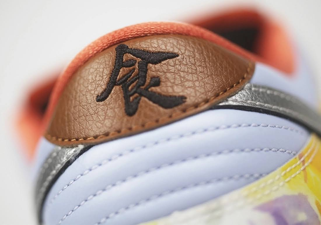 """ジェイソン デング x ナイキ SB ダンク ロー """"ストリート ホーカー"""" Jason-Deng-Nike-SB-Dunk-Low-Street-Hawker-CV1628-800-13-heel-closeup-right"""