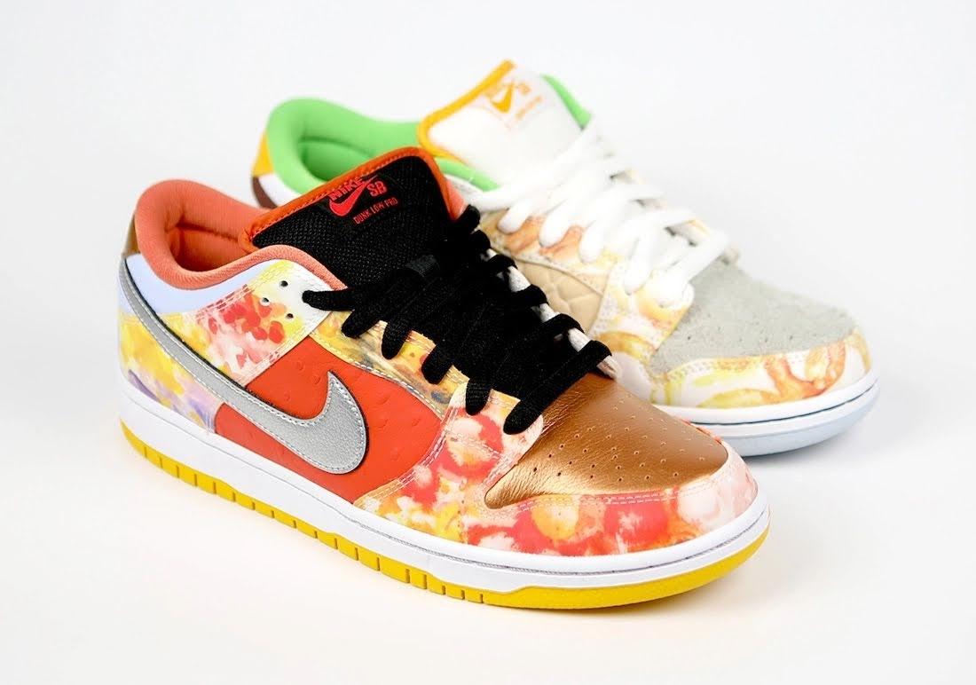 """ジェイソン デング x ナイキ SB ダンク ロー """"ストリート ホーカー"""" Jason-Deng-Nike-SB-Dunk-Low-Street-Hawker-CV1628-800-3-pair"""