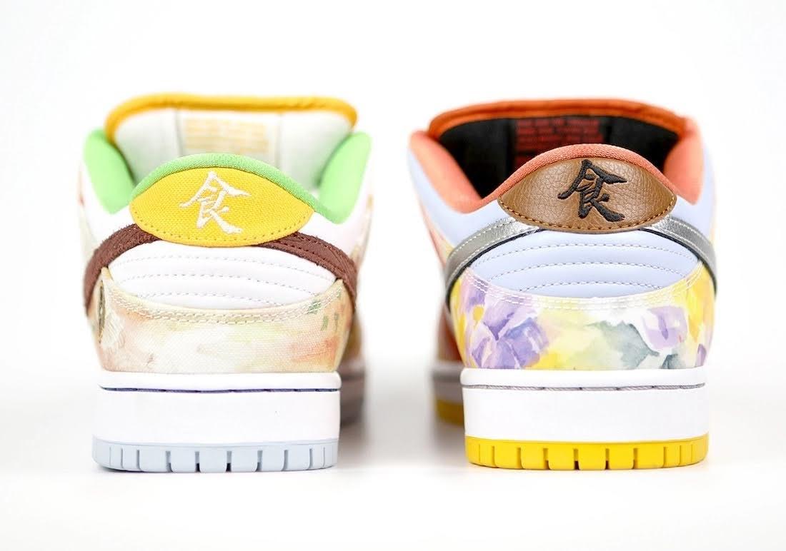 """ジェイソン デング x ナイキ SB ダンク ロー """"ストリート ホーカー"""" Jason-Deng-Nike-SB-Dunk-Low-Street-Hawker-CV1628-800-17-pair-heel"""