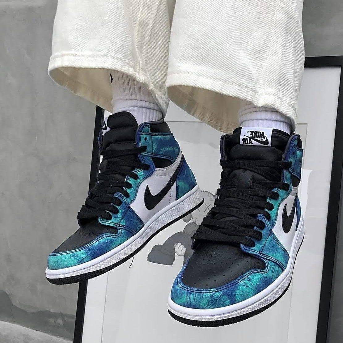 ナイキ エア ジョーダン 1 ウィメンズ タイダイ 2020年 スニーカー Nike-WMNS-Air-Jordan-1-Tie-Dye