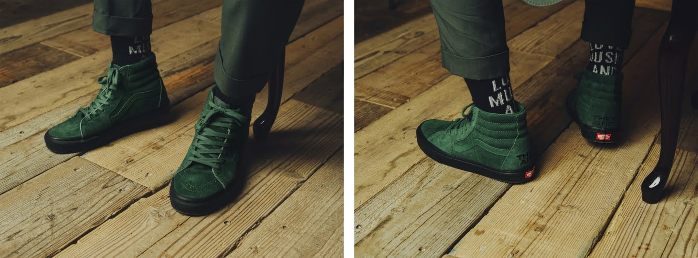 """VANS × THEY ARE """"THE YEAR OF THE OX"""" Collection】バンズ × ゼイ アー """"ザ イヤー オブ ザ OX"""" コレクション sneakers green wearing"""