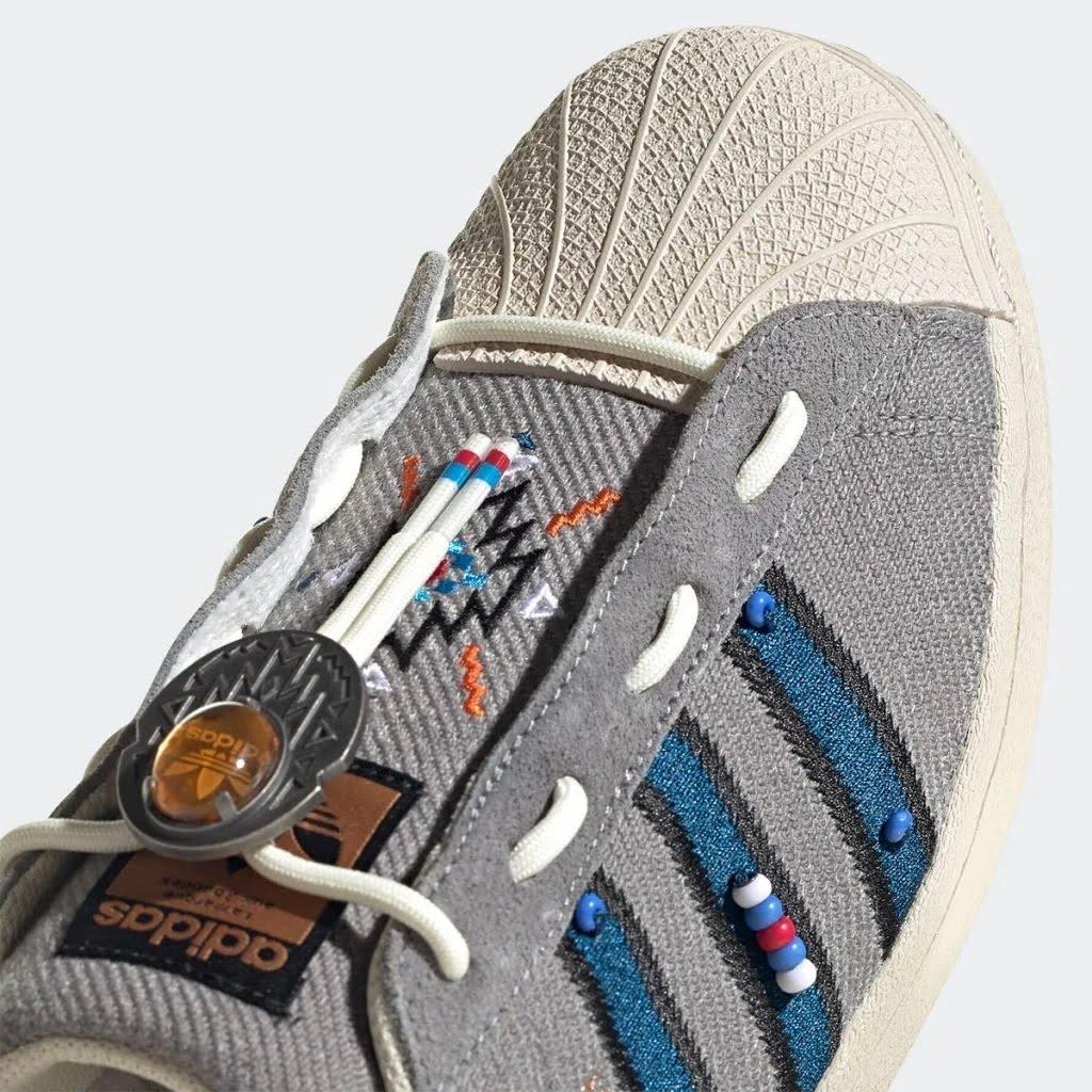 アディダス オリジナルス/ スーパースター レースレス-adidas-Superstar-S29064-toe-detail