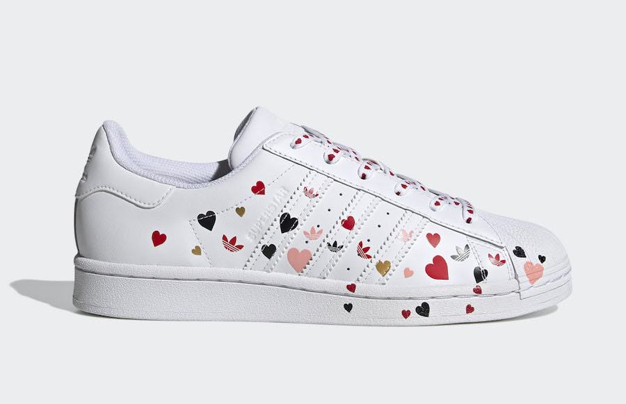アディダス スーパースター バレンタイン ハート 2020年 adidas-Superstar-Valentines-Day-Splash-Hearts-FV3289 side