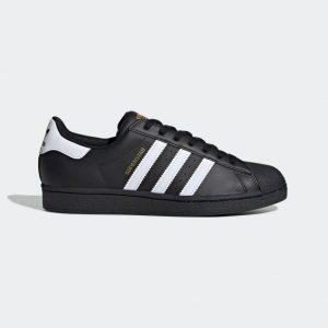 adidas スーパースター-black-ladies-sneakers-winter-style-adidas-originals-superstar-black