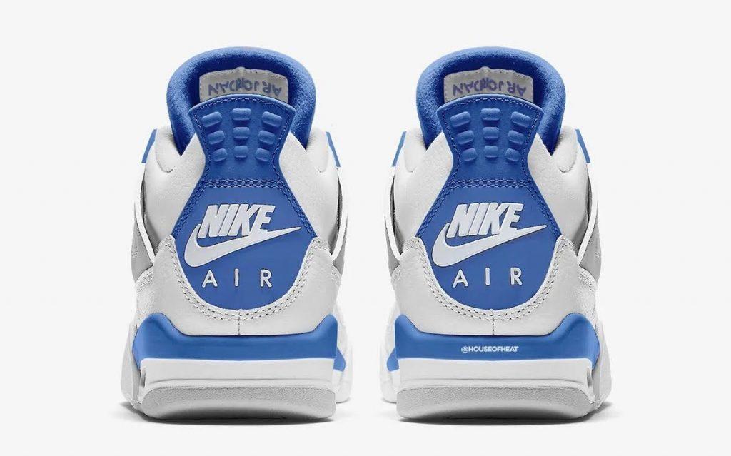 """ナイキ エア ジョーダン 4 """"ミリタリーブルー""""-nike-air-jordan-4-og-military-blue-pair-heel"""