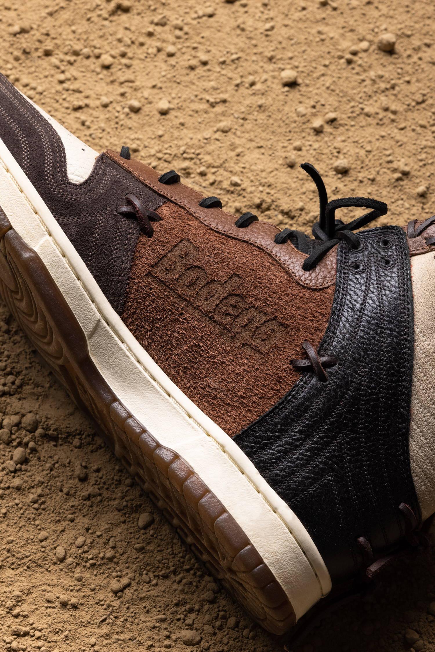 ボデガ × ナイキ ダンク ハイ Bodega-Nike-Dunk-High-Fauna-Brown-Rustic-Velvet-Brown-Multi-Color-CZ8125-200 CZ8125-200 wearing
