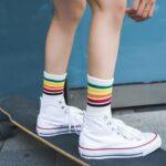 スニーカー 靴下 コーディネート おすすめ 人気 how-to-style-socks-with-sneakers-idea styling