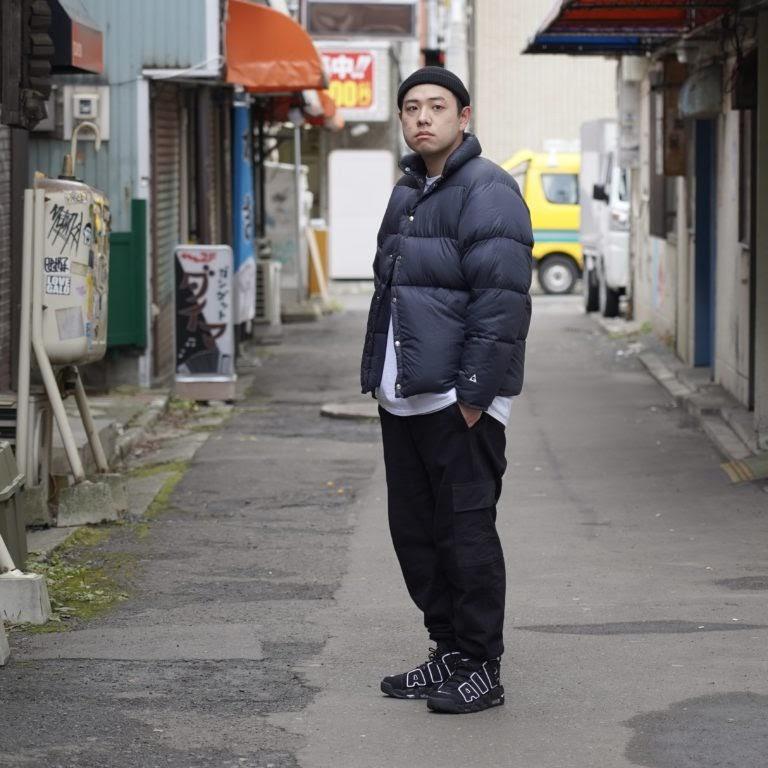 ナイキ エア モア アップテンポ ブラック/ホワイト-ブラック NIKE-AIR-MORE-UPTEMPO-BLACK-WHITE-414962-002-looks wearing