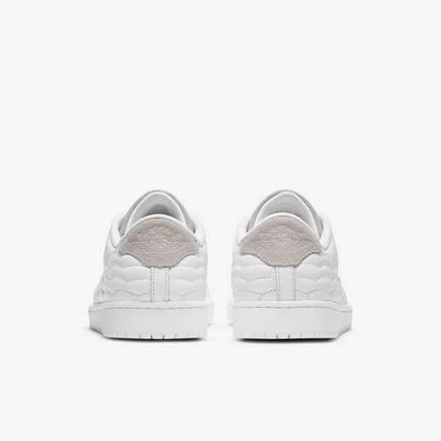 """ナイキ ジョーダン センター コート ホワイト """"ホワイト オン ホワイト"""" nike-1-white-on-white-aj-1-centre-court-dj2756-100-heel"""