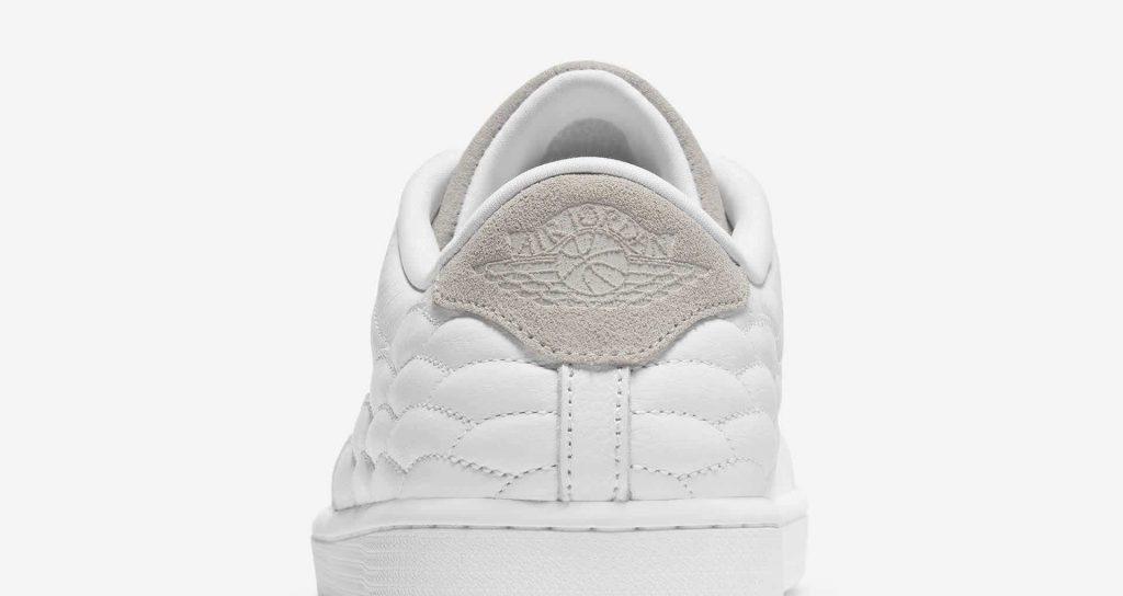 """ナイキ ジョーダン センター コート ホワイト """"ホワイト オン ホワイト"""" nike-1-white-on-white-aj-1-centre-court-dj2756-100-heel-detail"""