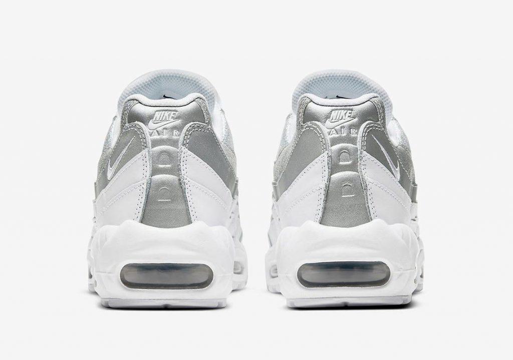 """ナイキ ウィメンズ エア マックス 95 """"ホワイトメタリック"""" nike-air-max-95-wmns-silver-DH3857-100-heel"""